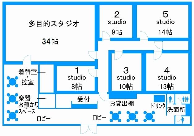 音楽天国・米子FS店のフロアマップ