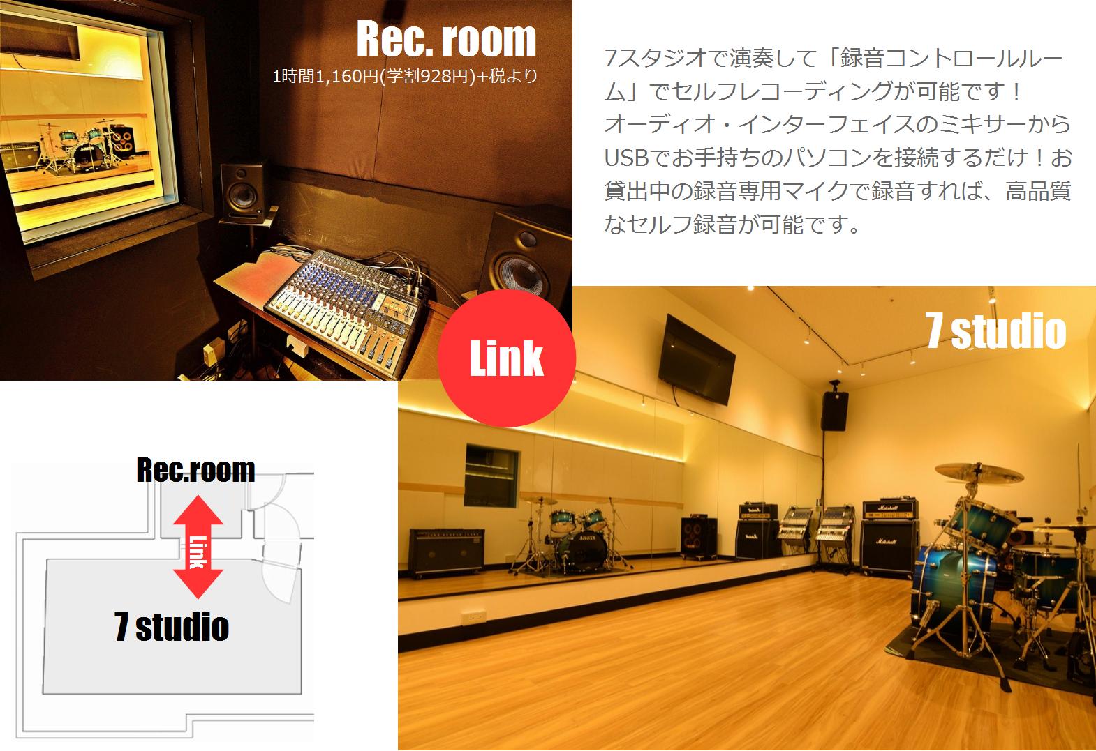 音楽天国・名古屋ささしまライブ店の録音コントロールルームとリンク